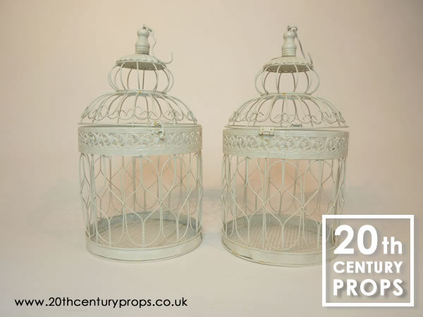 1: Vintage style bird cages