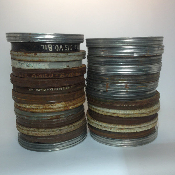 3: Large Metal 35mm Film Canisters
