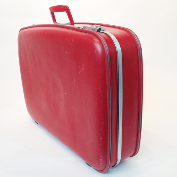 4: Red Hard Shell Suitcase