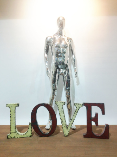 3: Large metal LOVE letters