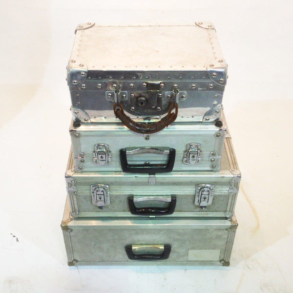 4: Stack of Metal Cases