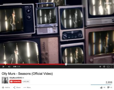 Olly Murs Music Video - Seasons - Vintage TV's