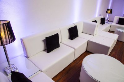 Event modular furniture, tables & poufs