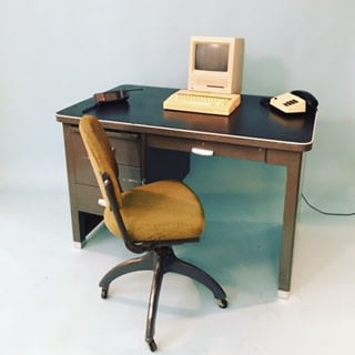 Vintage desk, computer and telephone props used in recent photo shoot