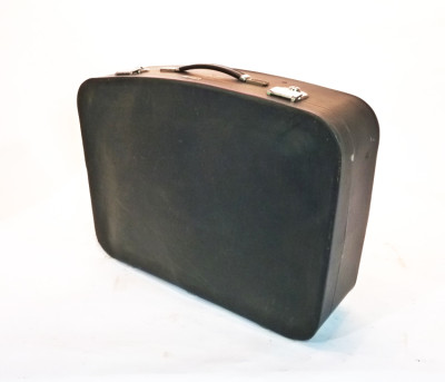Black Soft Leather Suitcase