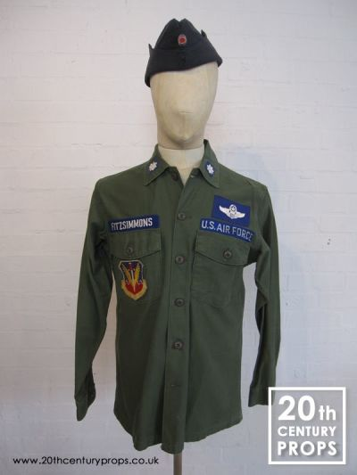 Vintage US Airforce shirt & beret