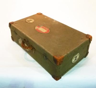 Dark Green Canvas Suitcase