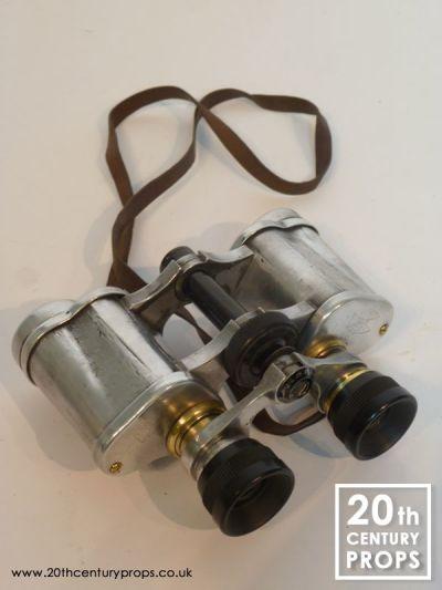 Vintage polished chrome binoculars