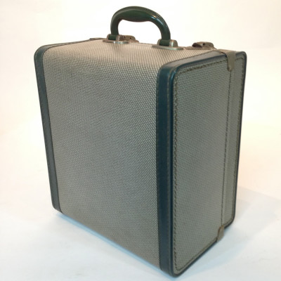 Small Patterned With Green Trim Travel Case