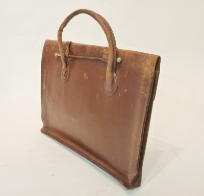 Brown Thin Leather Satchel