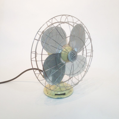 Large industrial desk fan - Cream