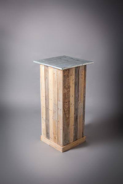 Zinc Top Wooden Plinth