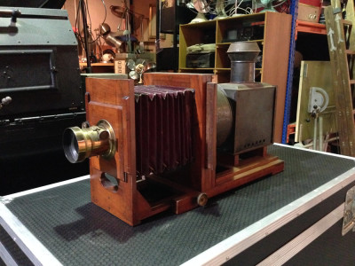 Vintage plate camera / projector