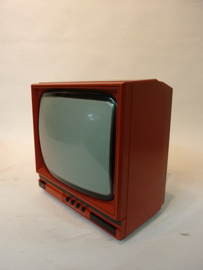 Red Portable 1990's TV