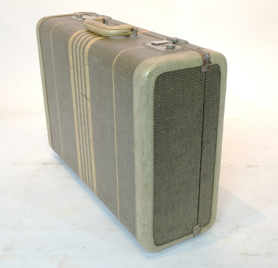 Green with Yellow Stripes Suitcase