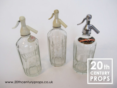 Vintage glass soda bottles