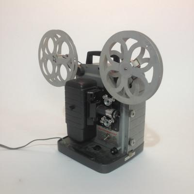 Grey Retro Bell & Howell Moviemaster 8mm Film Projector