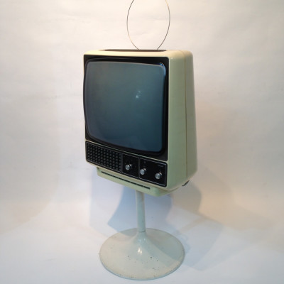 White 1960's Retro Phillips TV