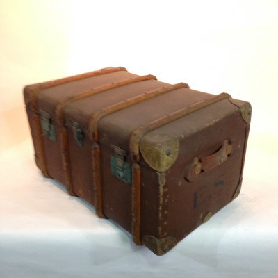 Large Wooden Vintage Travel Trunk