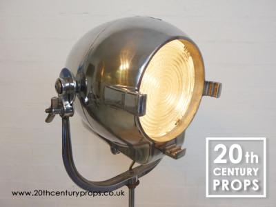 Chrome Industrial Floor Lamp