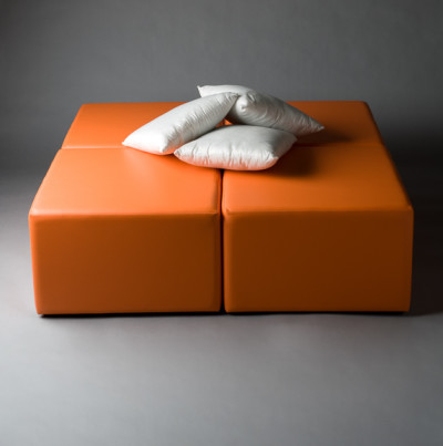 Orange Squared Daybed