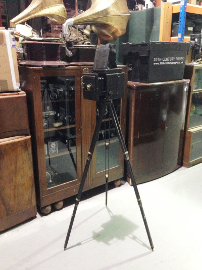Vintage box bellows camera