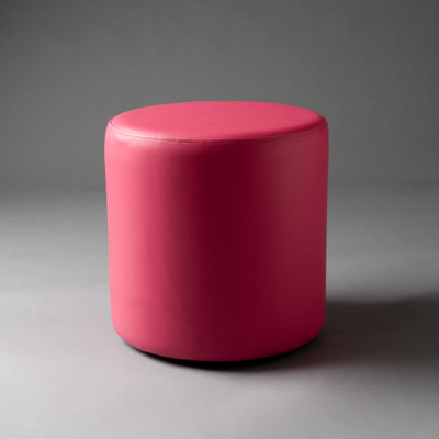 Small Pink Round Pouf