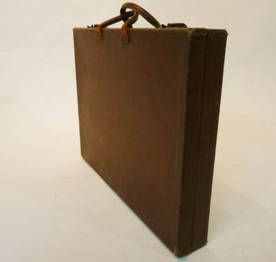 Thin Brown Leather Briefcase