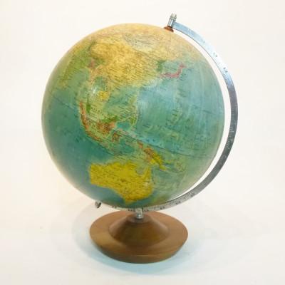 Large glass vintage globe