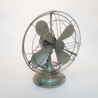 Vintage industrial desk fan - Bronze