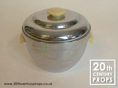 Art Deco chrome ice bucket