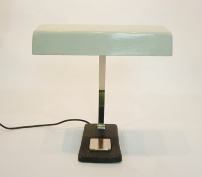 White Vintage Low Light Desk Lamp