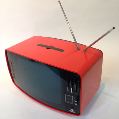 Red 1960's Retro Italian TV