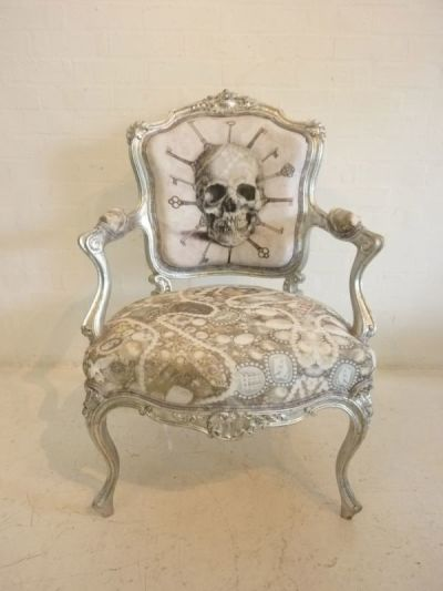 Decorative baroque chair - Silver