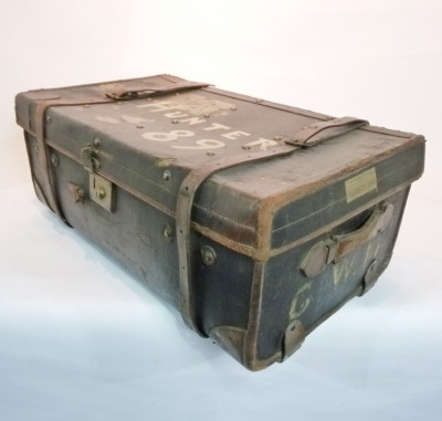Large Grey Travel Trunk