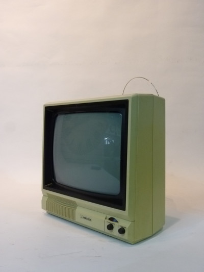 White Portable 1990's TV