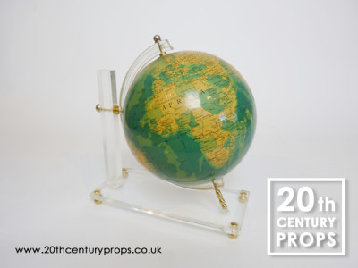 1960's Globe on perspex stand