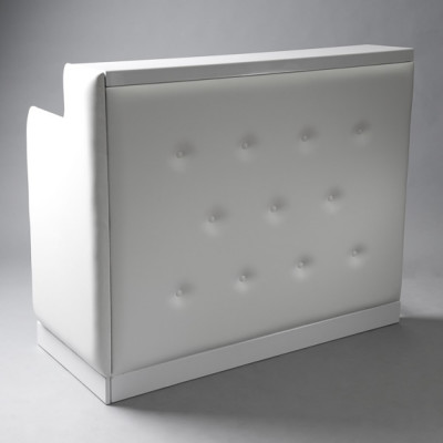 White Padded DJ Booth