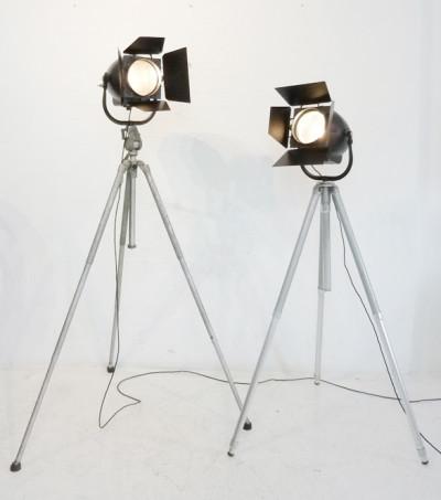 Vintage 'Strand Electric' Black Studio Spotlight