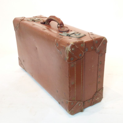 Light Brown Leather Suitcase