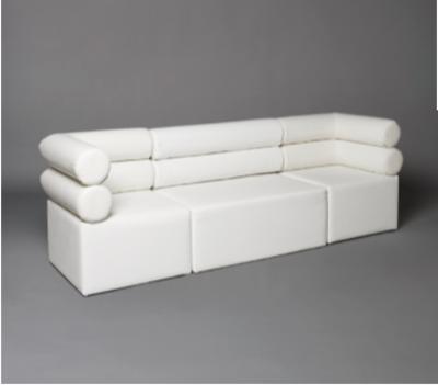 White Double Bolster Modular Seat Sofa
