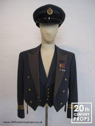 Vintage RAF jacket, waistcoat & cap