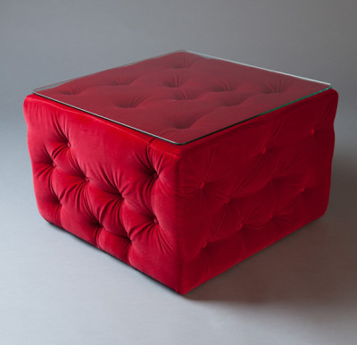 Red Amura Pouf Table