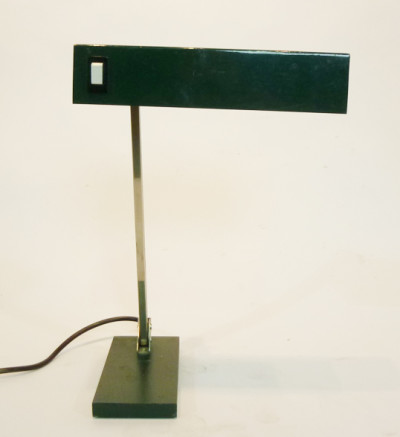 Black Angular Low Light Desk Lamp