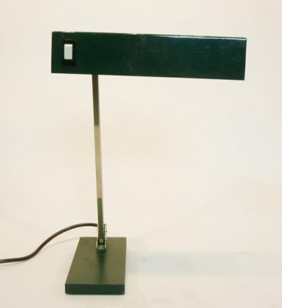 Black Angular Low Light Desk Lamp