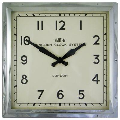 Smiths chrome industrial wall clock