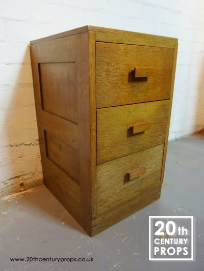 Heals oak drawer unit