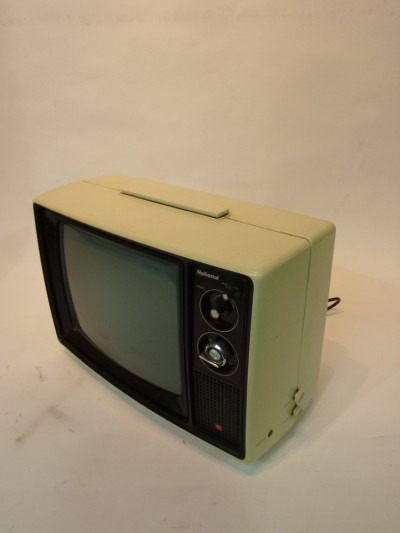 White Retro 1970's TV