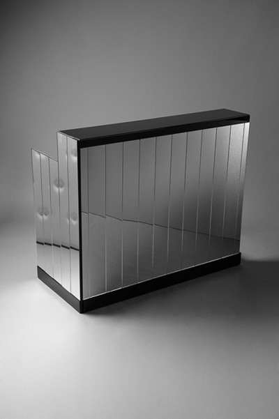 Mirrored DJ Booth - Black