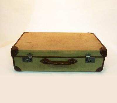 Cream Canvas Suitcase